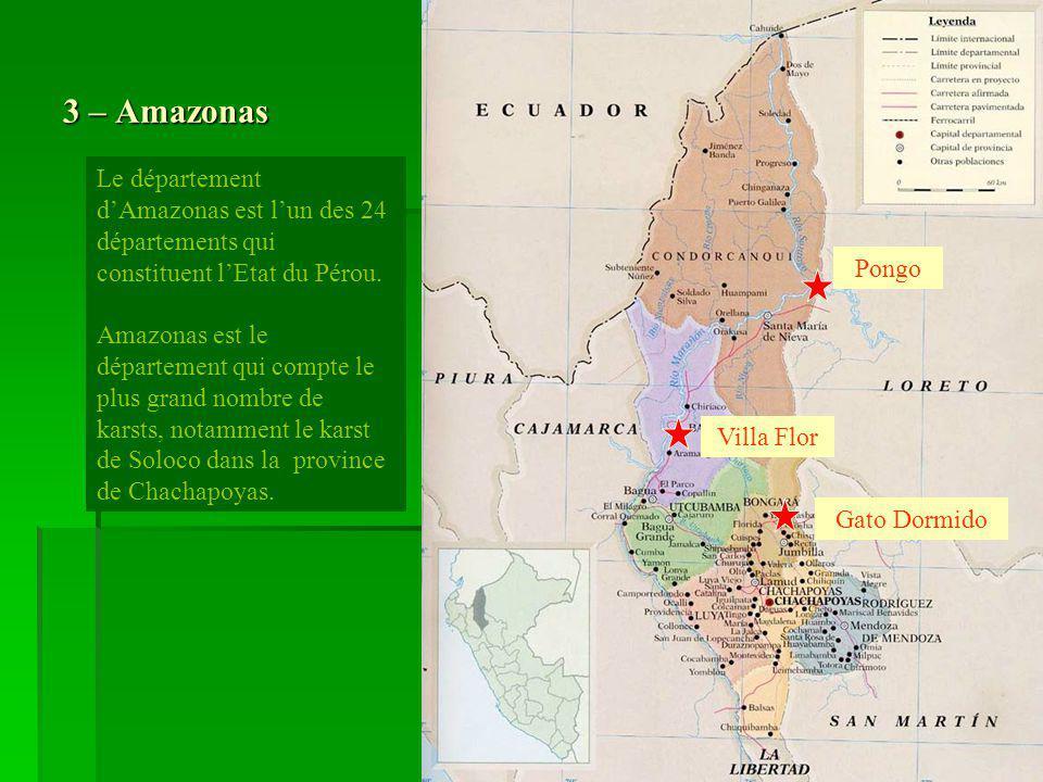 3 – Amazonas Le département d'Amazonas est l'un des 24 départements qui constituent l'Etat du Pérou.
