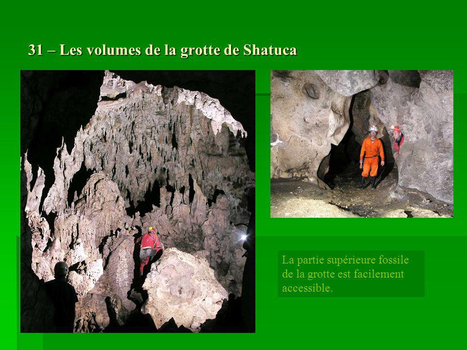 31 – Les volumes de la grotte de Shatuca