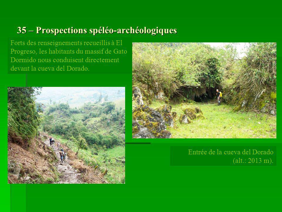 35 – Prospections spéléo-archéologiques