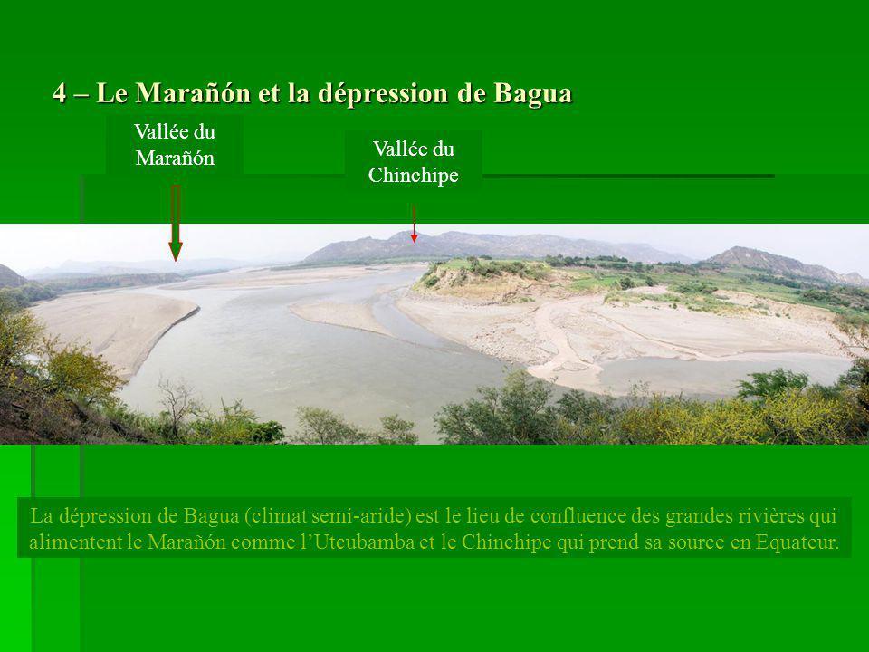 4 – Le Marañón et la dépression de Bagua