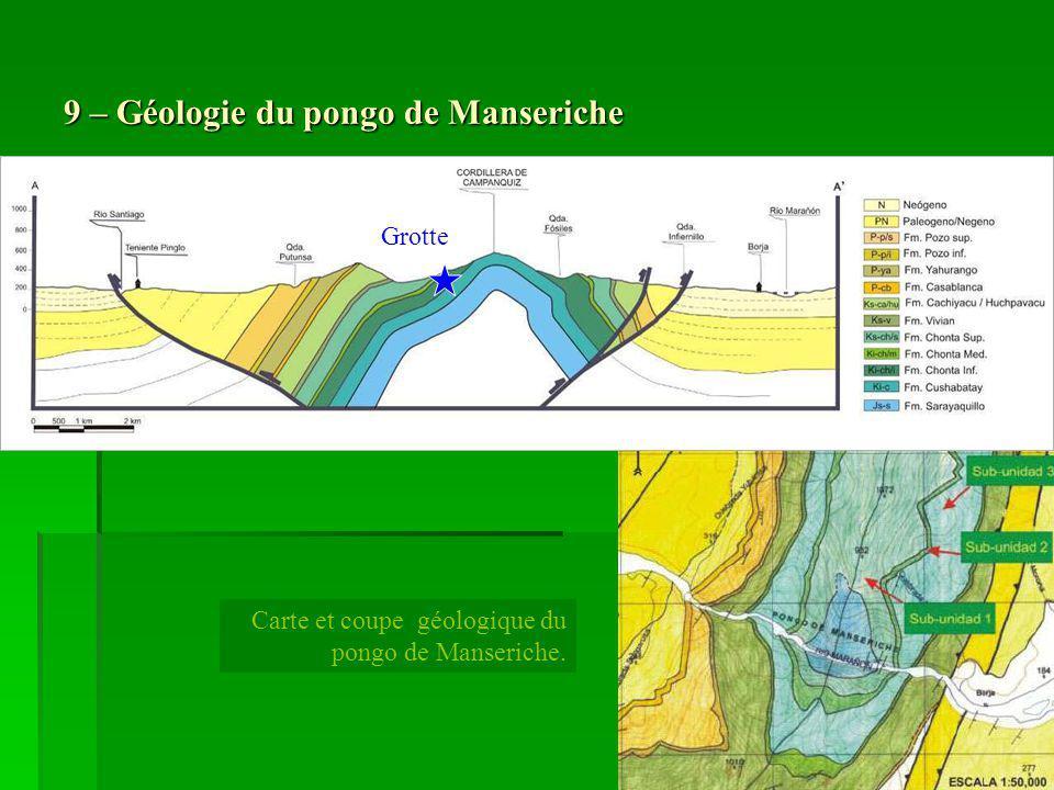 9 – Géologie du pongo de Manseriche