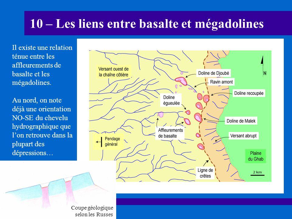 10 – Les liens entre basalte et mégadolines