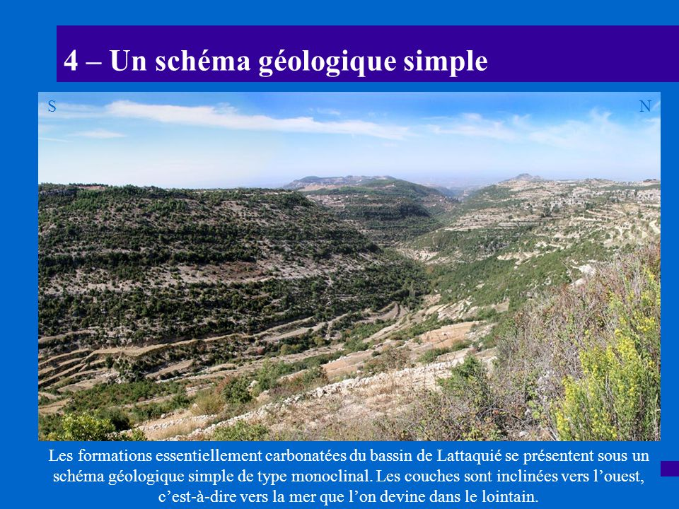 4 – Un schéma géologique simple