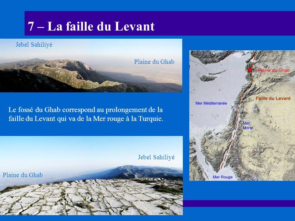 7 – La faille du Levant Jebel Sahiliyé. Plaine du Ghab.