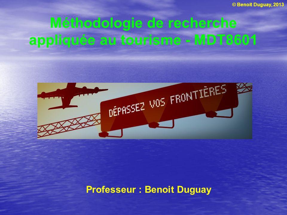 Méthodologie de recherche appliquée au tourisme - MDT8601