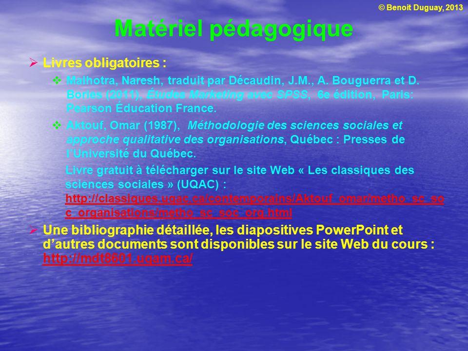 Matériel pédagogique Livres obligatoires :