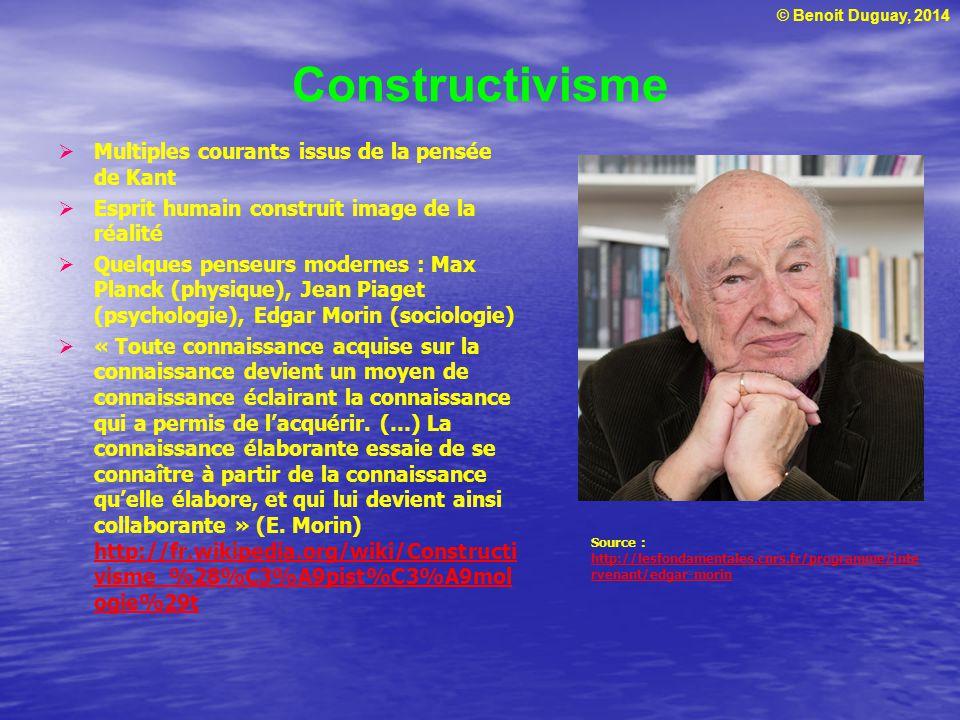 Constructivisme Multiples courants issus de la pensée de Kant