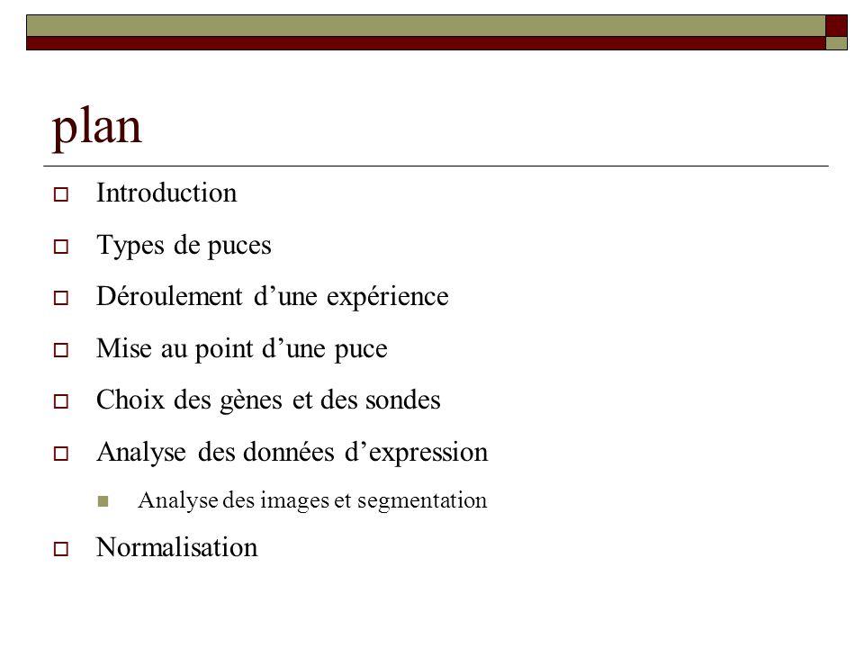 plan Introduction Types de puces Déroulement d'une expérience
