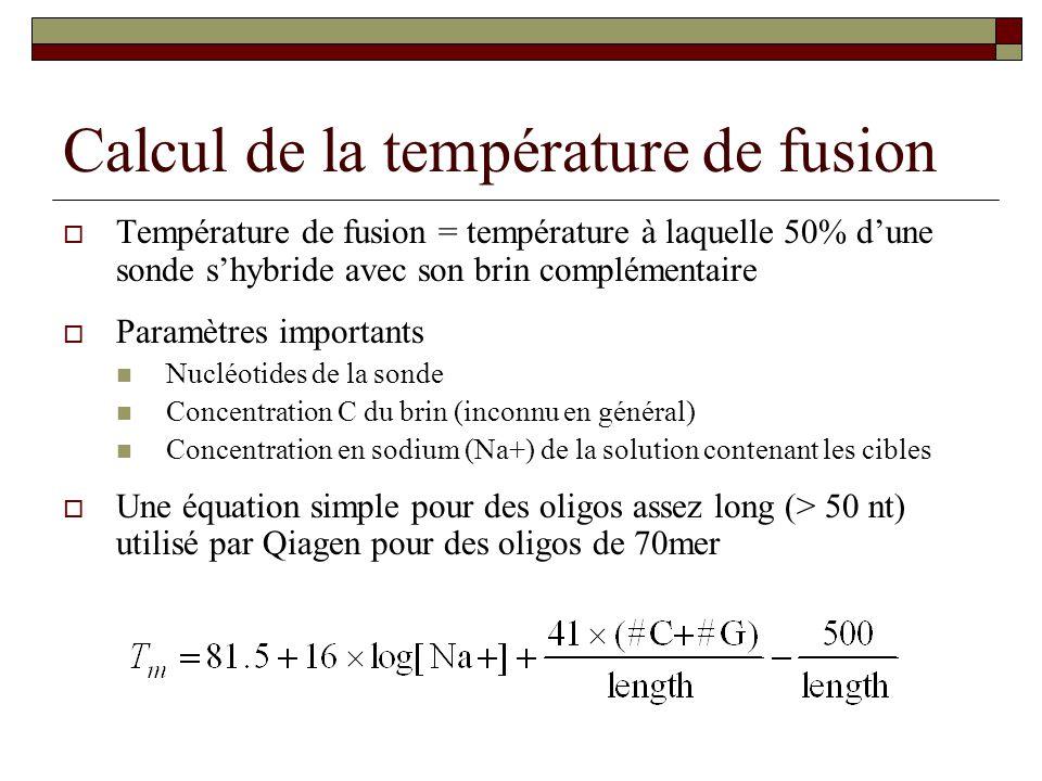 Calcul de la température de fusion
