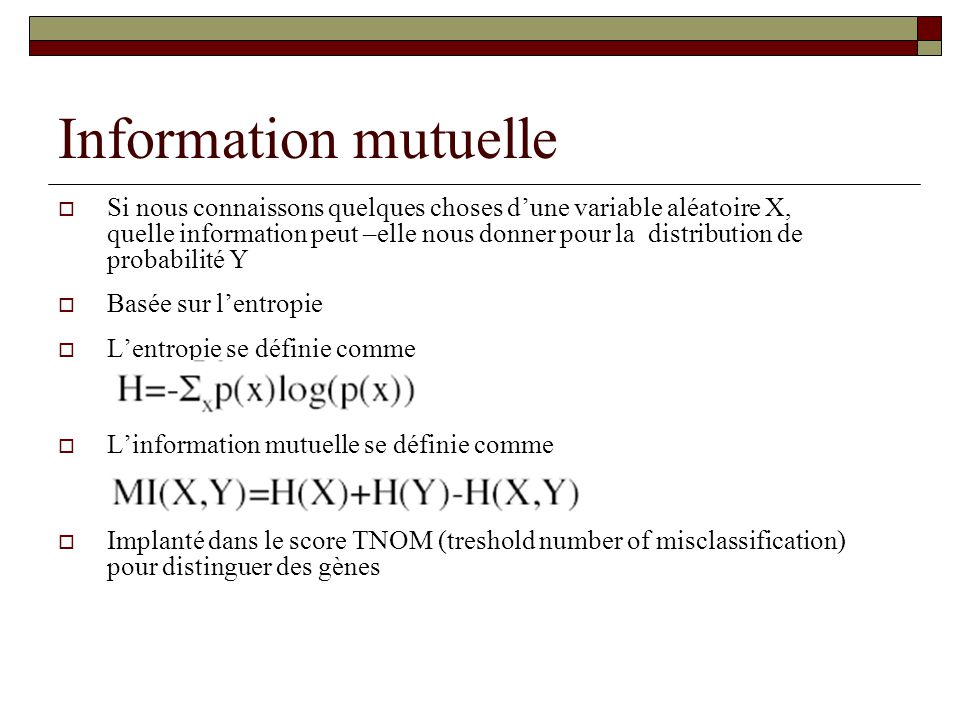 Information mutuelle