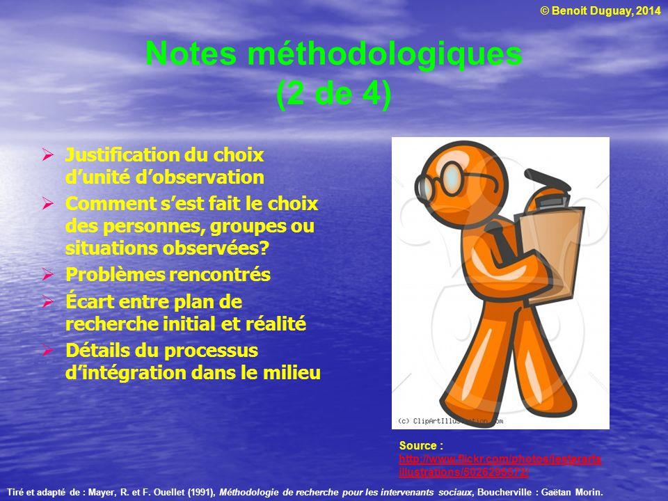 Notes méthodologiques (2 de 4)