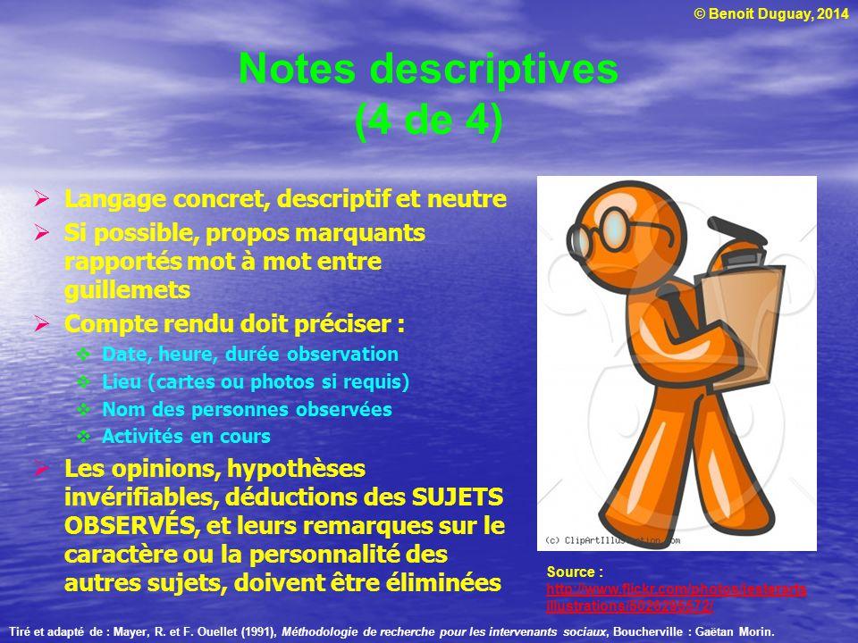 Notes descriptives (4 de 4)