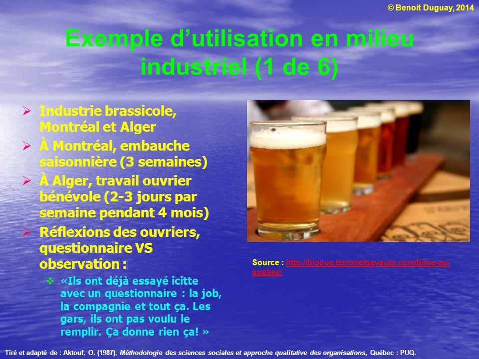 Exemple d'utilisation en milieu industriel (1 de 6)