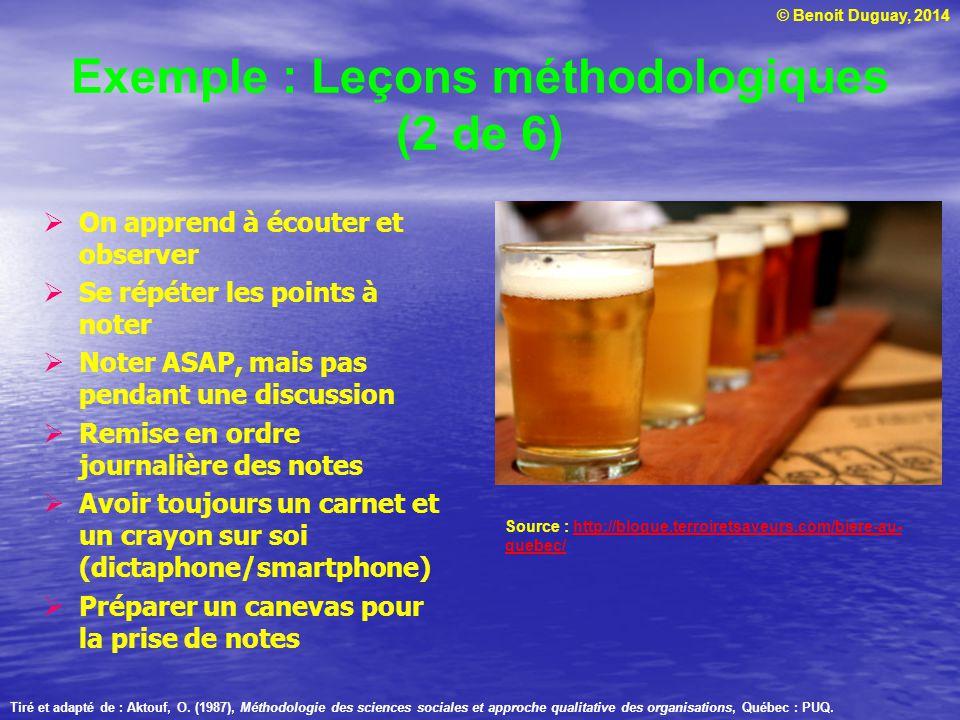 Exemple : Leçons méthodologiques (2 de 6)