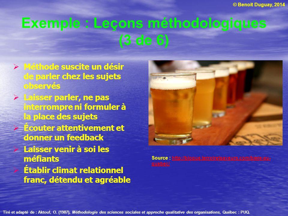 Exemple : Leçons méthodologiques (3 de 6)