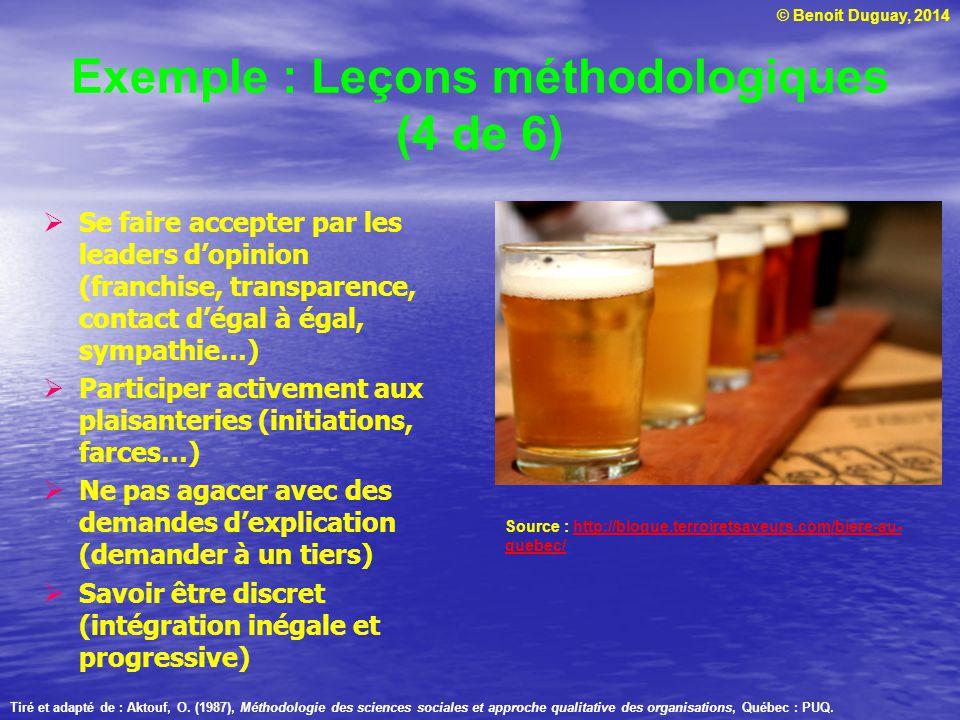 Exemple : Leçons méthodologiques (4 de 6)