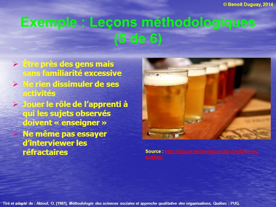Exemple : Leçons méthodologiques (5 de 6)