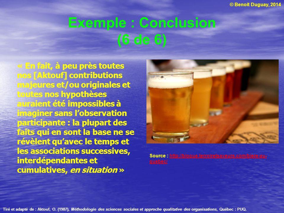 Exemple : Conclusion (6 de 6)