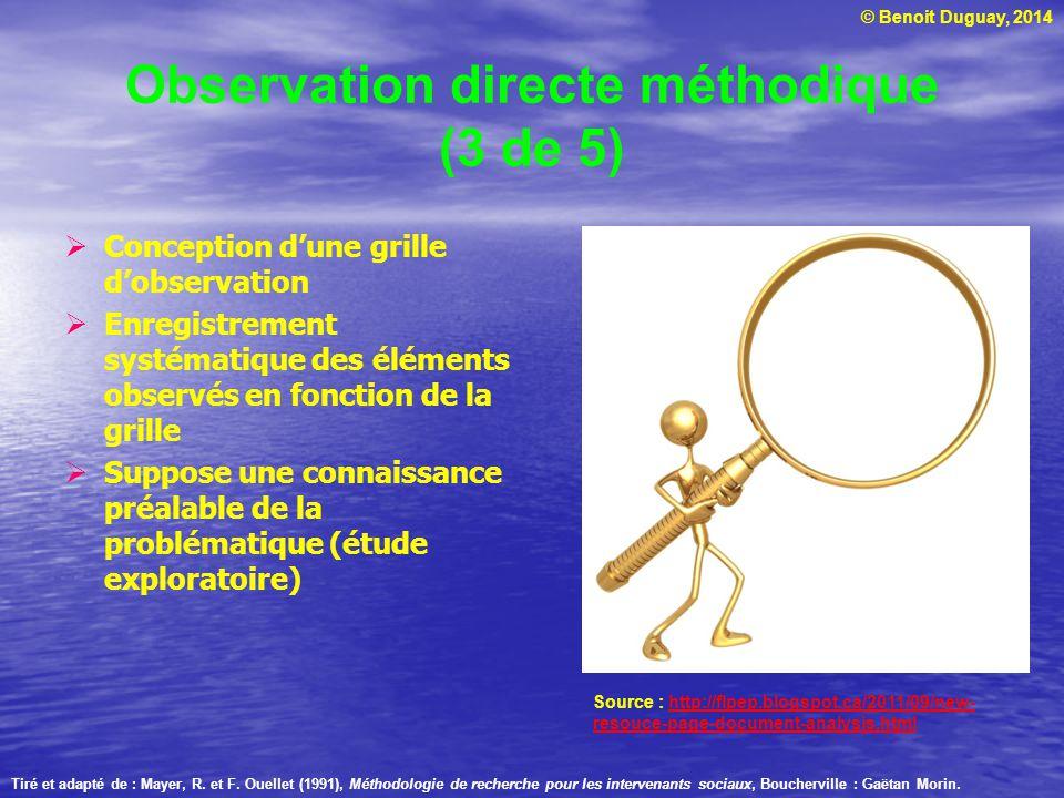 Observation directe méthodique (3 de 5)