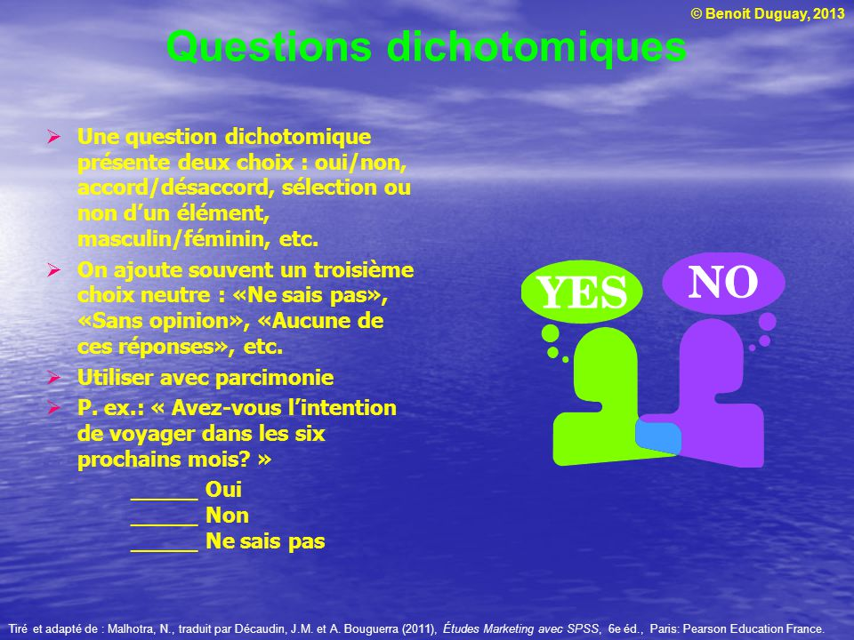Questions dichotomiques