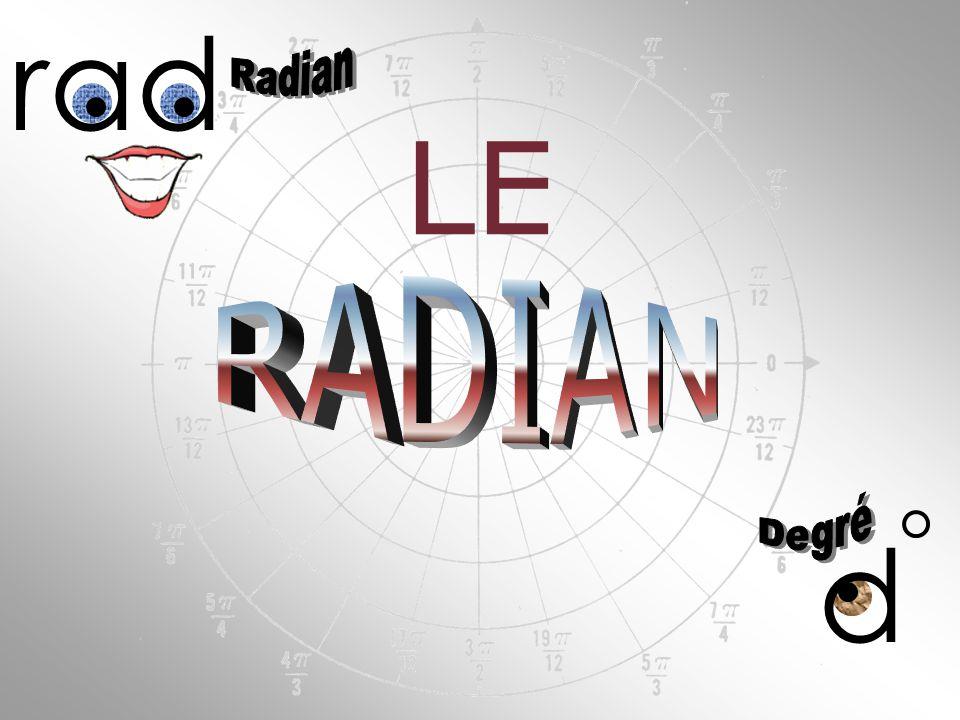 rad LE RADIAN d Radian Degré