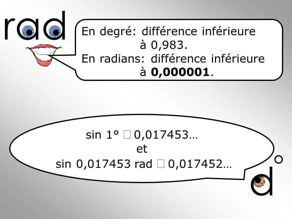 rad d En degré: différence inférieure à 0,983.