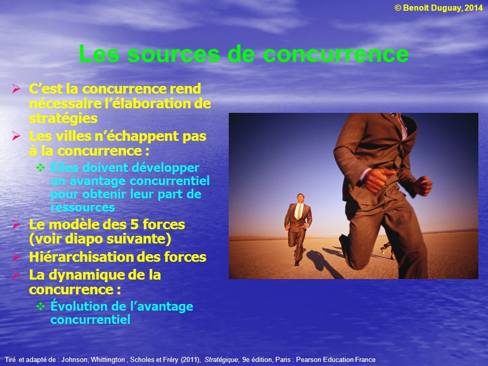 Les sources de concurrence