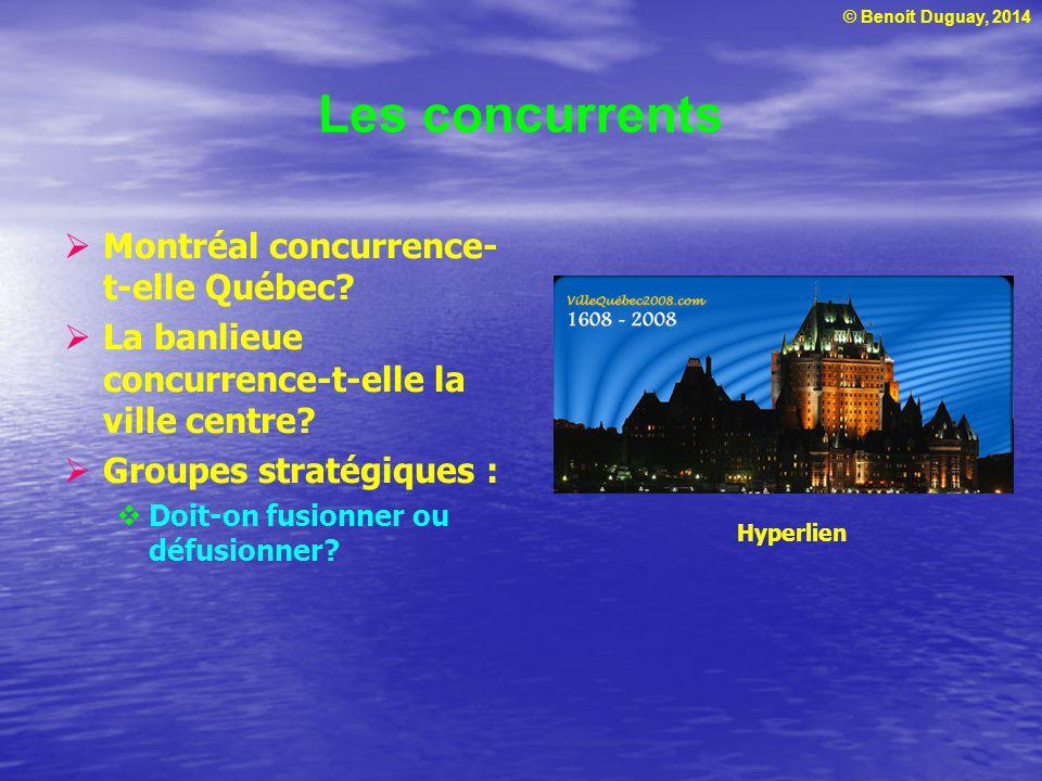 Les concurrents Montréal concurrence-t-elle Québec