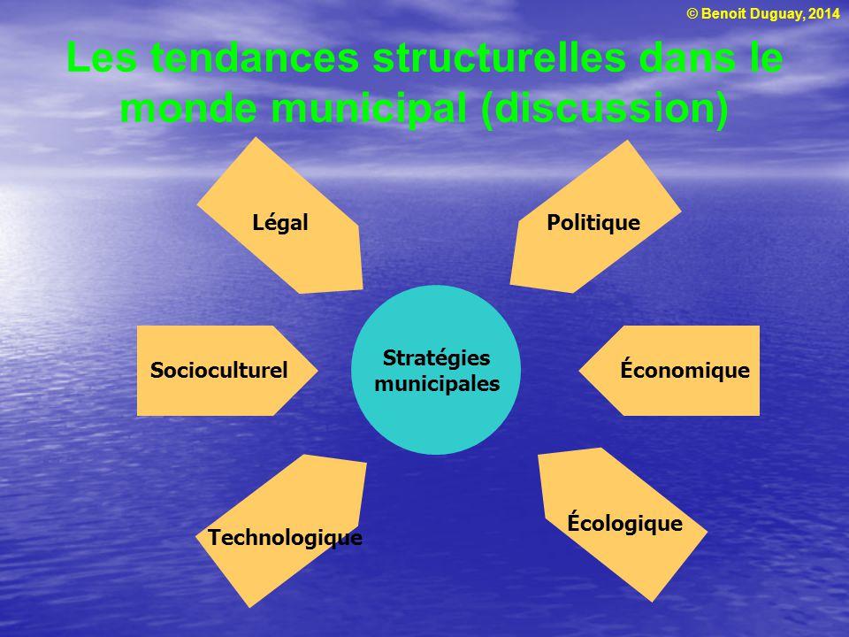 Les tendances structurelles dans le monde municipal (discussion)