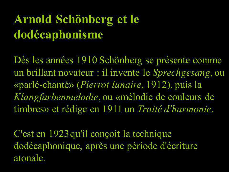 Arnold Schönberg et le dodécaphonisme