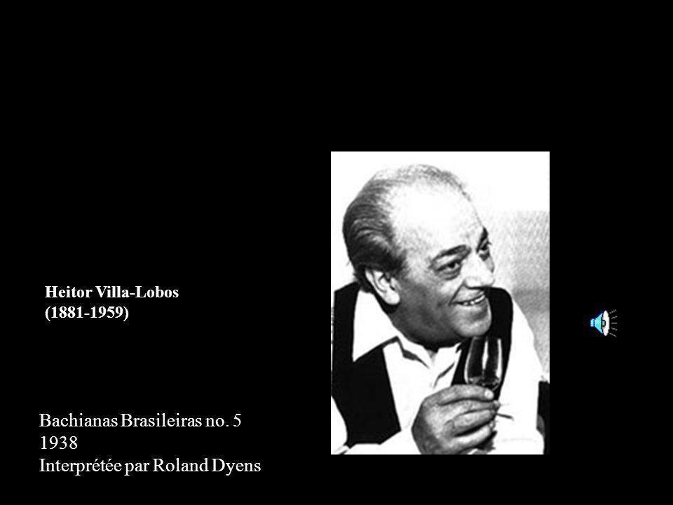 Bachianas Brasileiras no. 5 1938 Interprétée par Roland Dyens