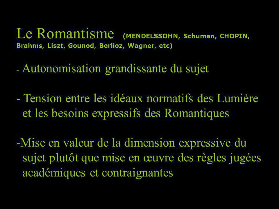 Le Romantisme (MENDELSSOHN, Schuman, CHOPIN,