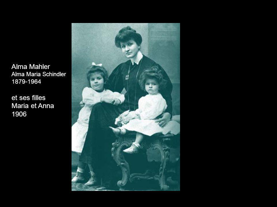 Alma Mahler et ses filles Maria et Anna 1906 1879-1964