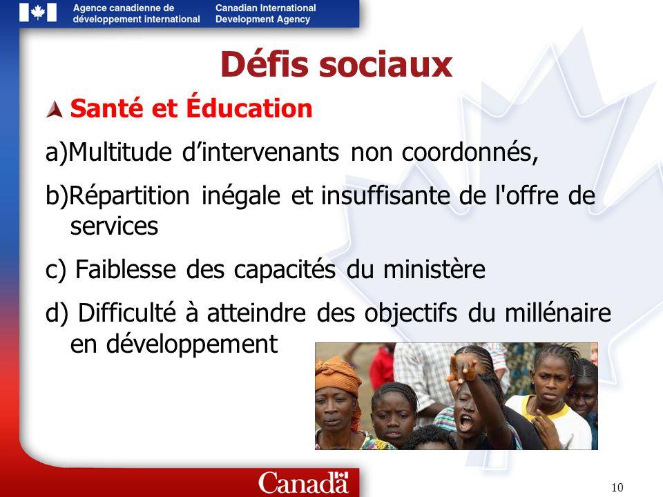 Défis sociaux Santé et Éducation