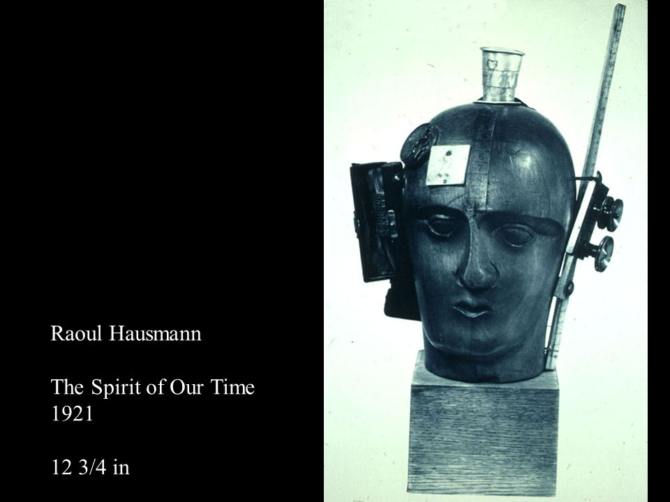Raoul Hausmann The Spirit of Our Time 1921 12 3/4 in