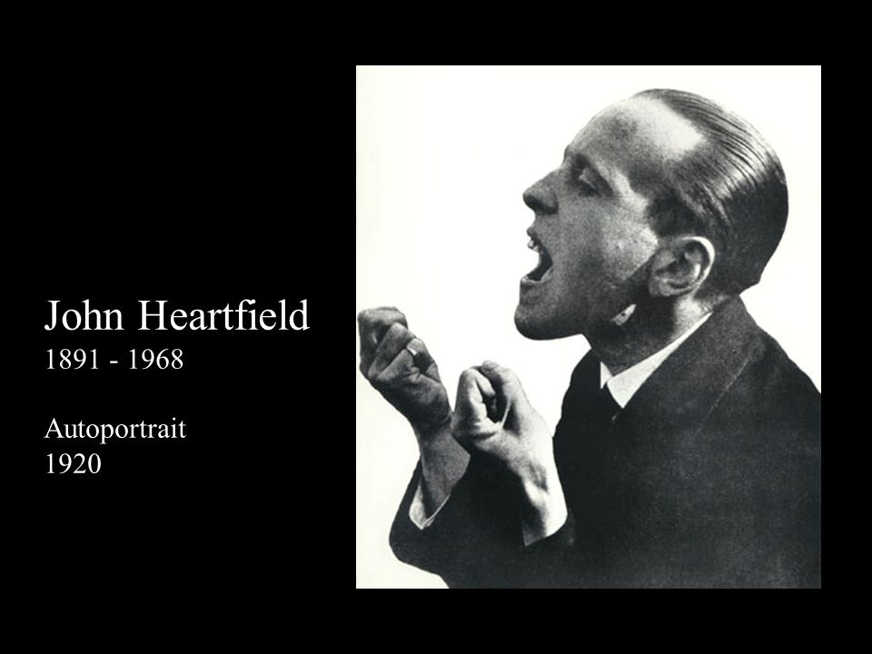 John Heartfield 1891 - 1968 Autoportrait 1920