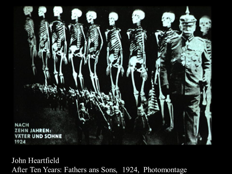 John Heartfield After Ten Years: Fathers ans Sons, 1924, Photomontage