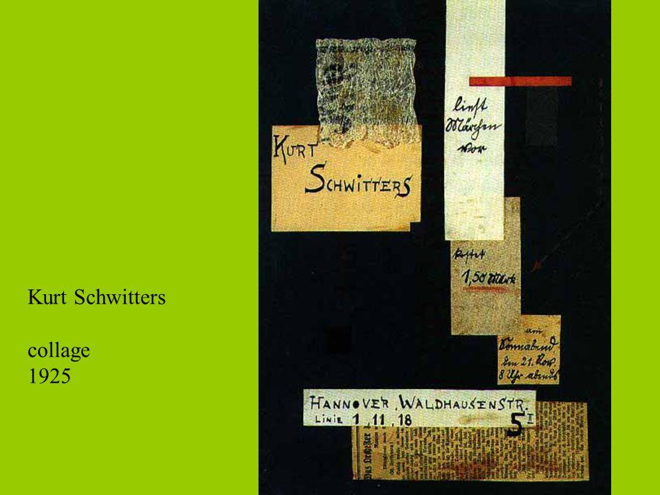 Kurt Schwitters collage 1925