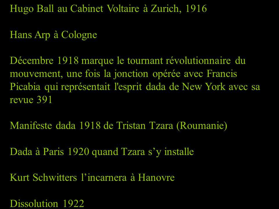 Hugo Ball au Cabinet Voltaire à Zurich, 1916