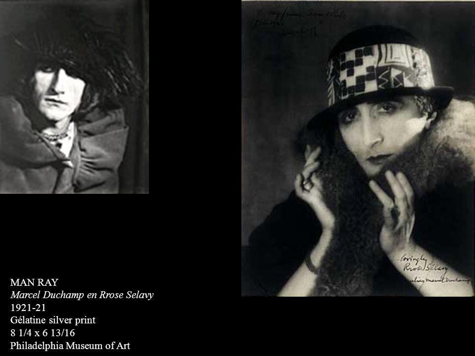 MAN RAY Marcel Duchamp en Rrose Selavy. 1921-21.
