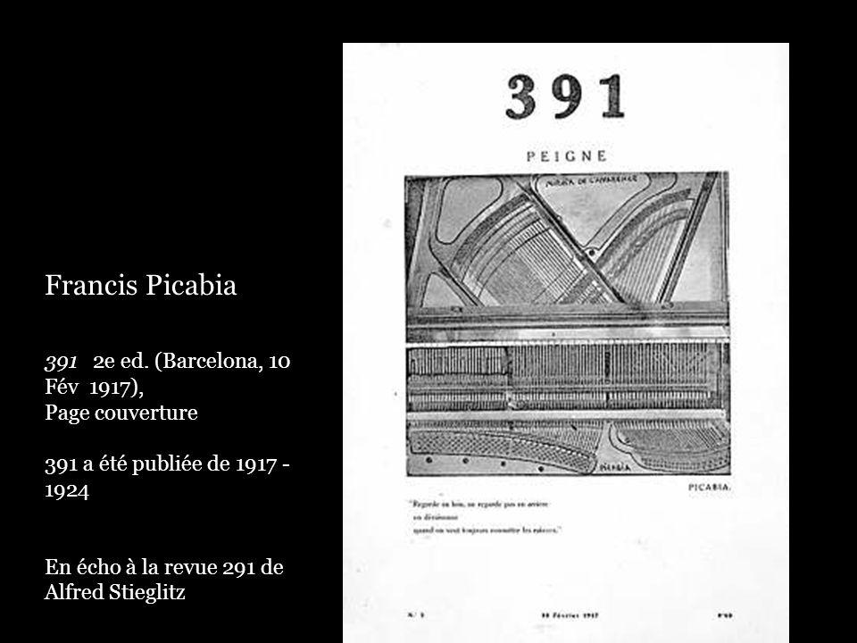 Francis Picabia 391 2e ed. (Barcelona, 10 Fév 1917), Page couverture