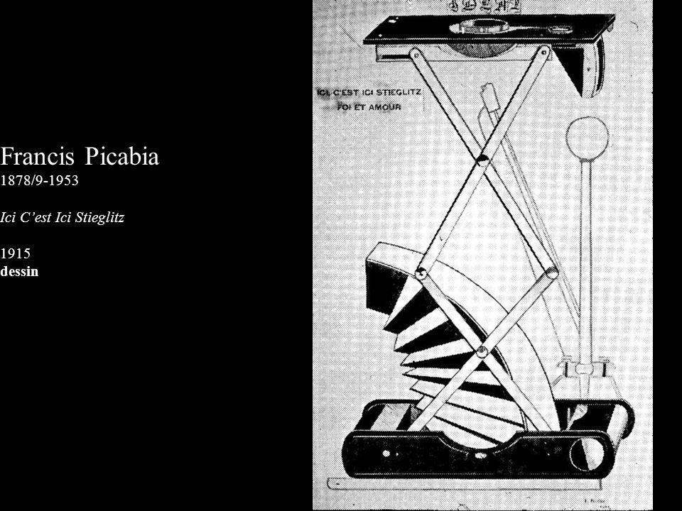 Francis Picabia 1878/9-1953 Ici C'est Ici Stieglitz 1915 dessin