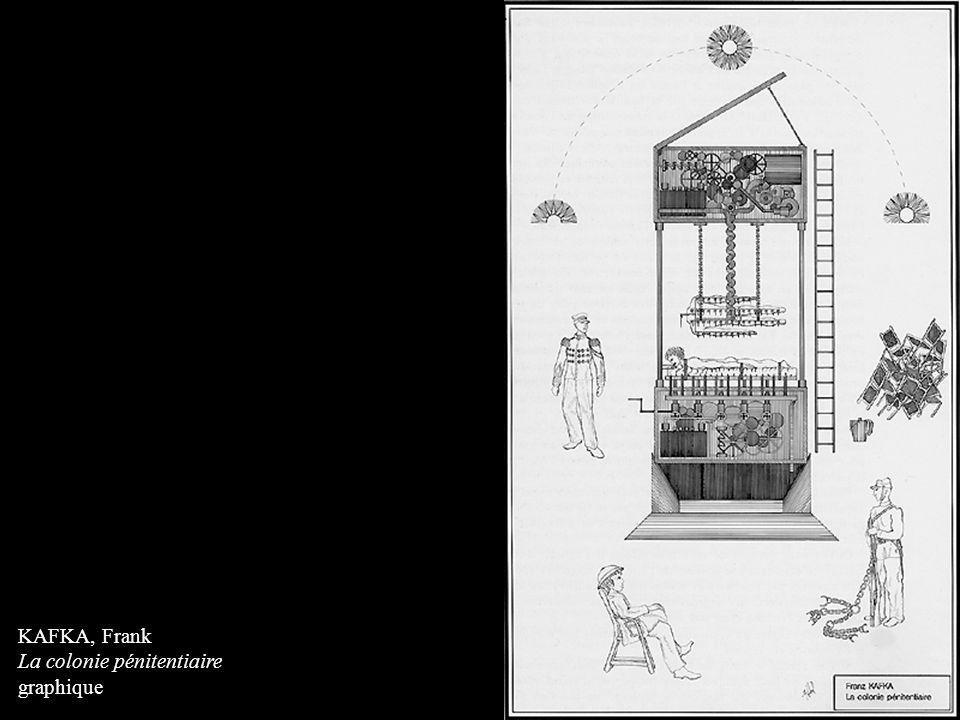 KAFKA, Frank La colonie pénitentiaire graphique