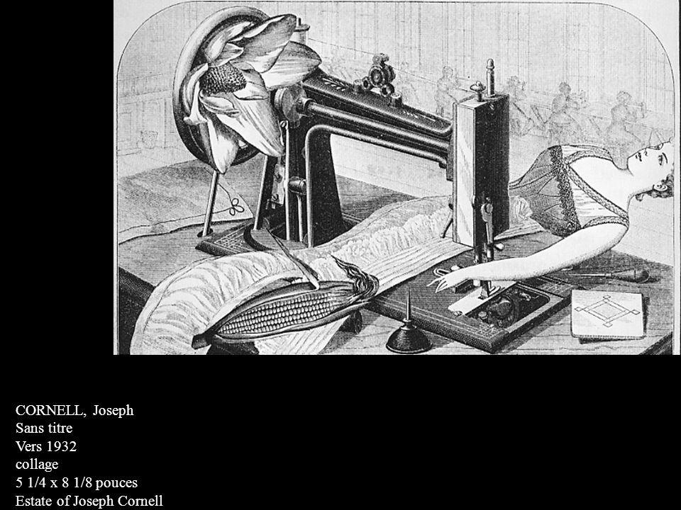 CORNELL, Joseph Sans titre Vers 1932 collage 5 1/4 x 8 1/8 pouces Estate of Joseph Cornell