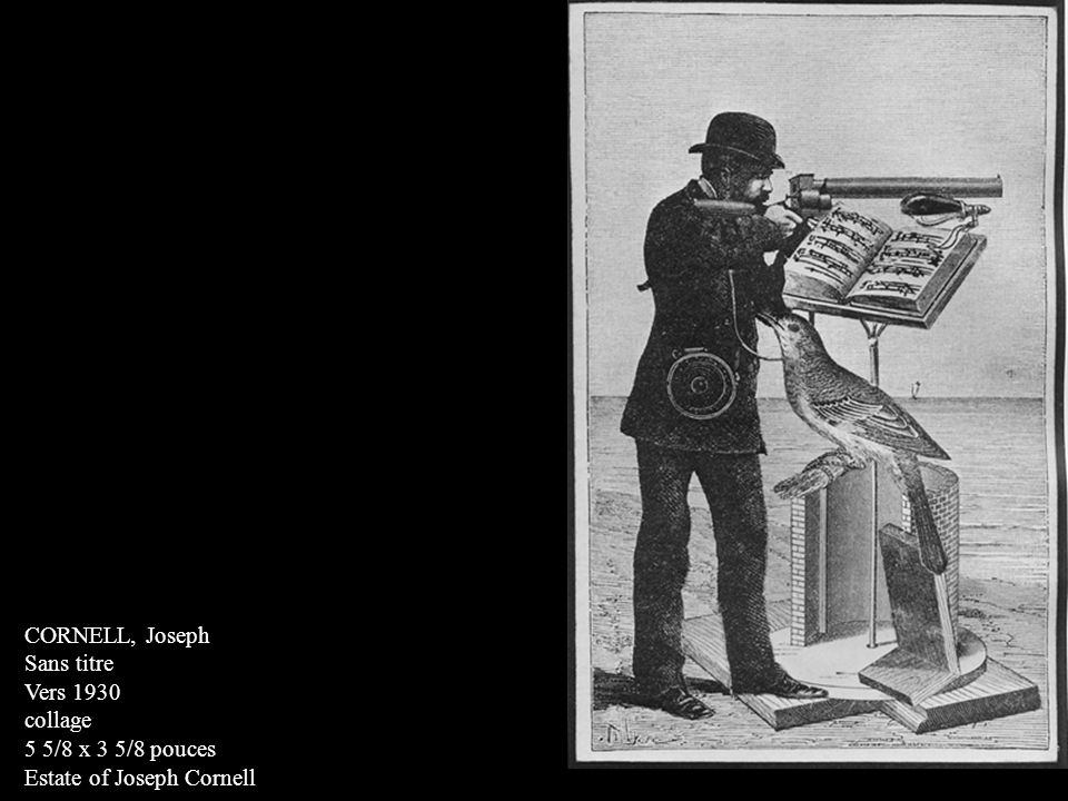 CORNELL, Joseph Sans titre Vers 1930 collage 5 5/8 x 3 5/8 pouces Estate of Joseph Cornell