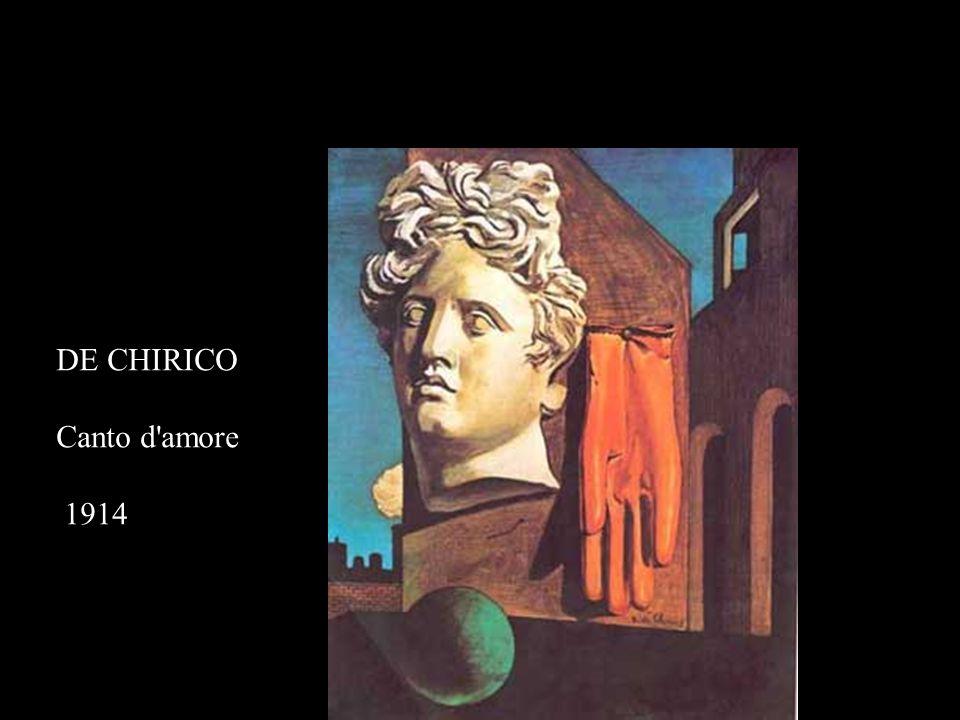 DE CHIRICO Canto d amore 1914