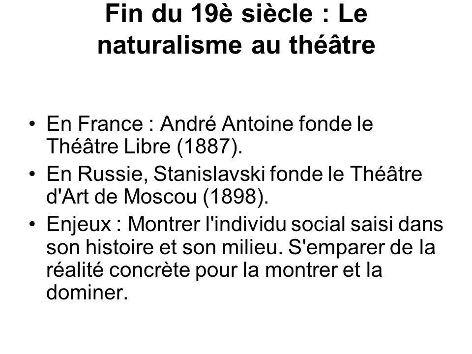 Fin du 19è siècle : Le naturalisme au théâtre