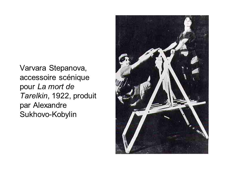 Varvara Stepanova, accessoire scénique pour La mort de Tarelkin, 1922, produit par Alexandre Sukhovo-Kobylin
