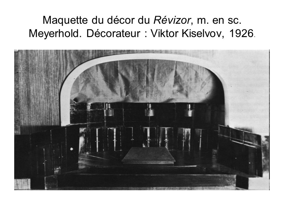 Maquette du décor du Révizor, m. en sc. Meyerhold