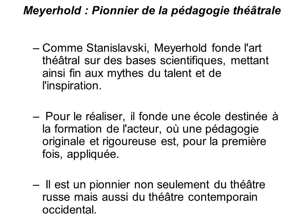 Meyerhold : Pionnier de la pédagogie théâtrale